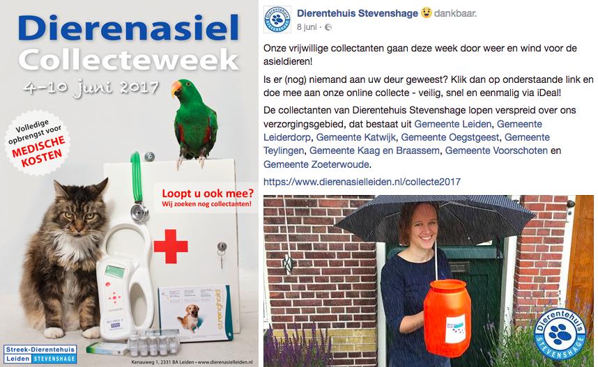 Collecteweek 2017 voor Dierentehuis Stevenshage