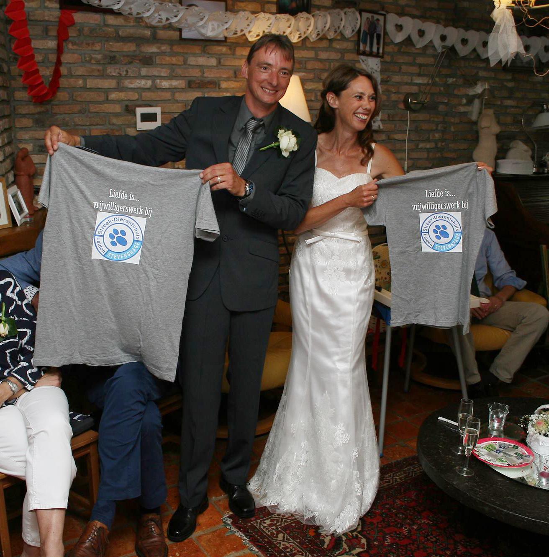 Vrijwilligers Vincent en Carina leerden elkaar bij Stevenshage kennen en trouwden afgelopen week!