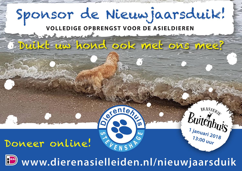 Sponsor de Nieuwjaarsduik voor Dierentehuis Stevenshage!