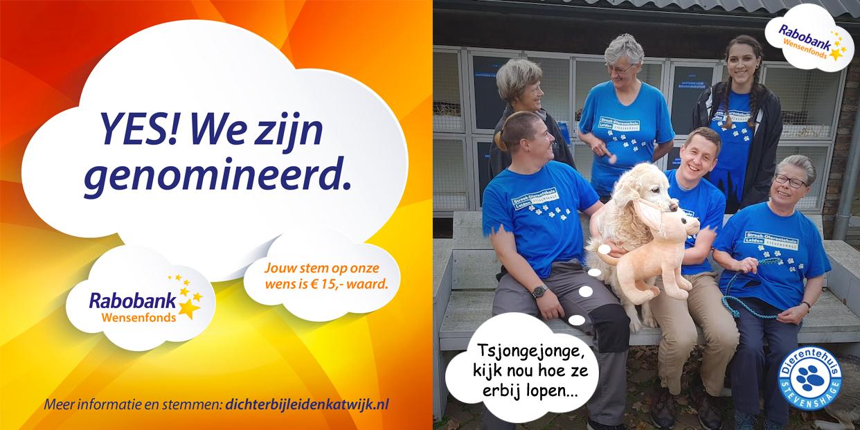 Stem op Dierentehuis Stevenshage voor het Rabobank Wensenfonds!