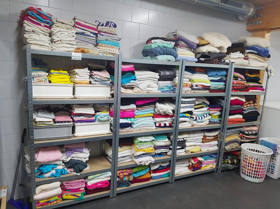 De handdoeken bij Dierentehuis Stevenshage in Leiden.