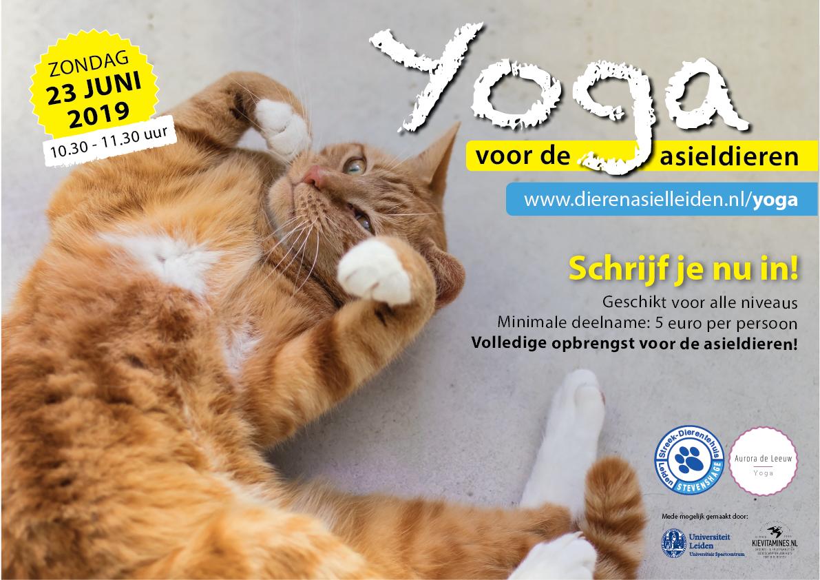 Uniek evenement op 23 juni 2019: Yoga voor de asieldieren van Stevenshage in Leiden!