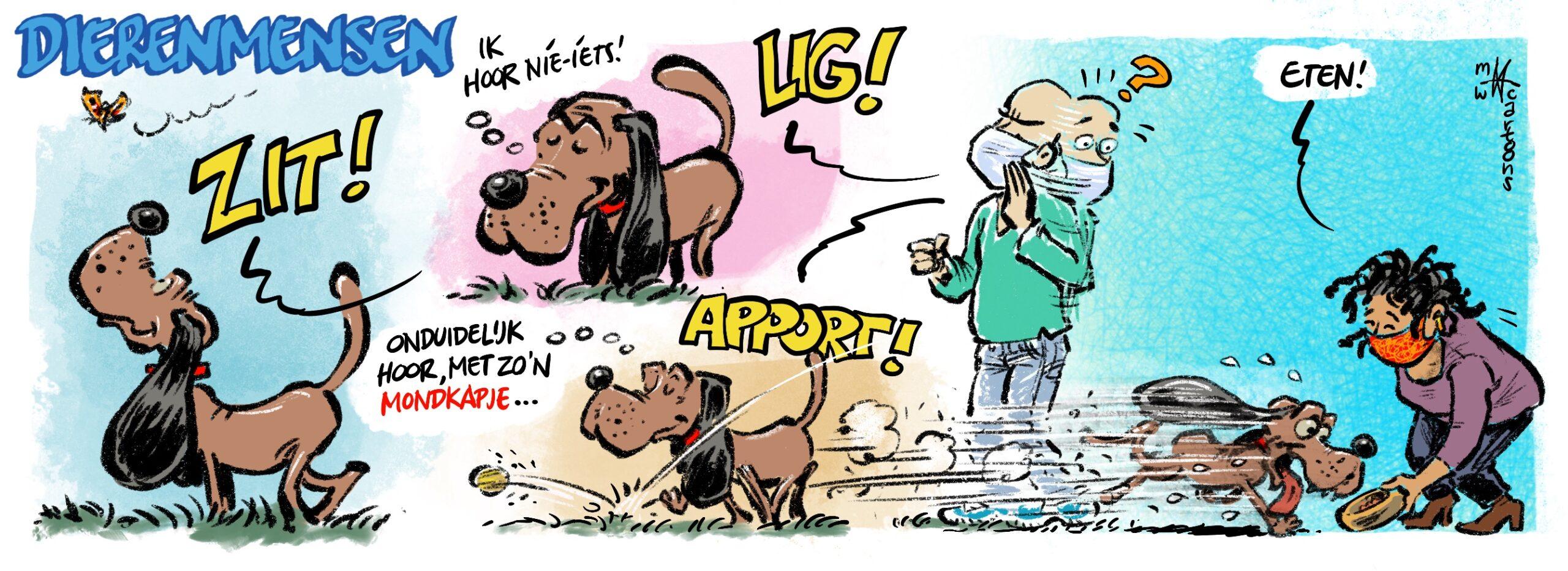 Bekijk hier alle strips die Leids Cartoonist Maarten Wolterink tekende voor Dierentehuis Stevenshage