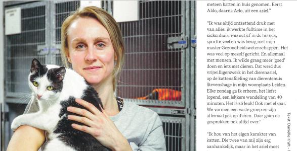 Klik op de afbeelding om het interview met Eva Anne over haar vrijwilligerswerk bij Dierentehuis Stevenshage in Leiden in pdf te lezen.